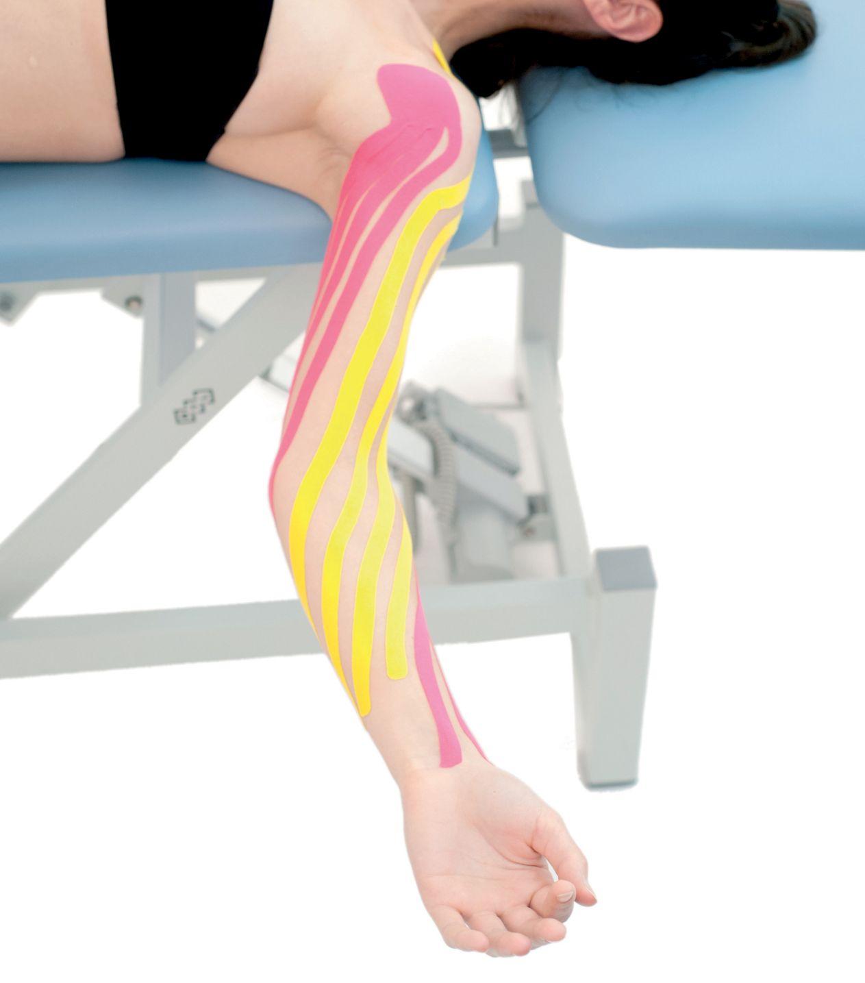 Tejpování – lymfatický tejp ruky 6