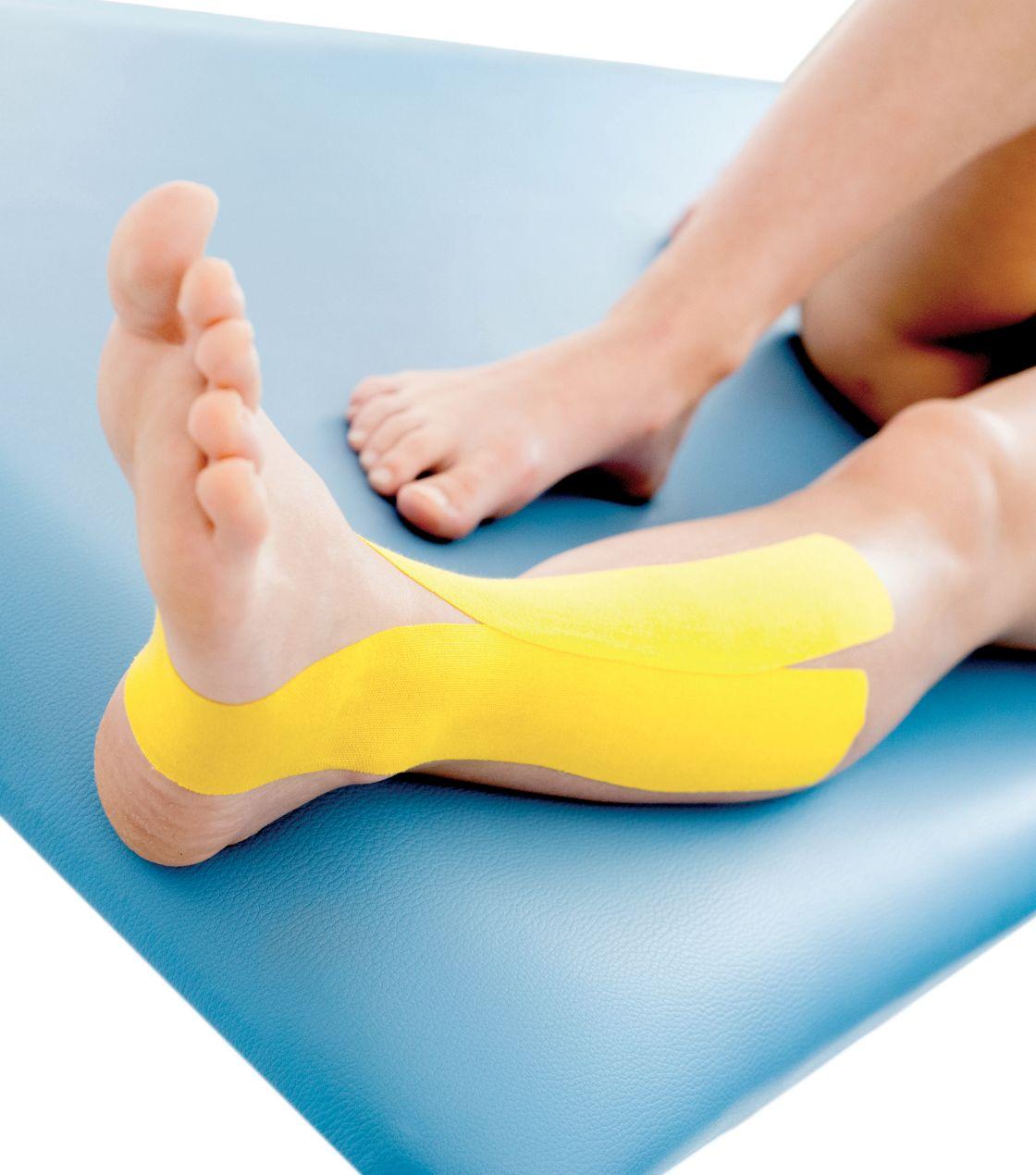 Tejpování podélně ploché nohy 2