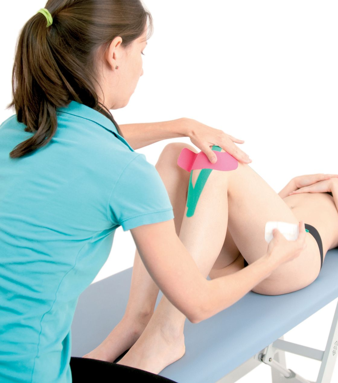 Tejpování úponů stehenního svalu
