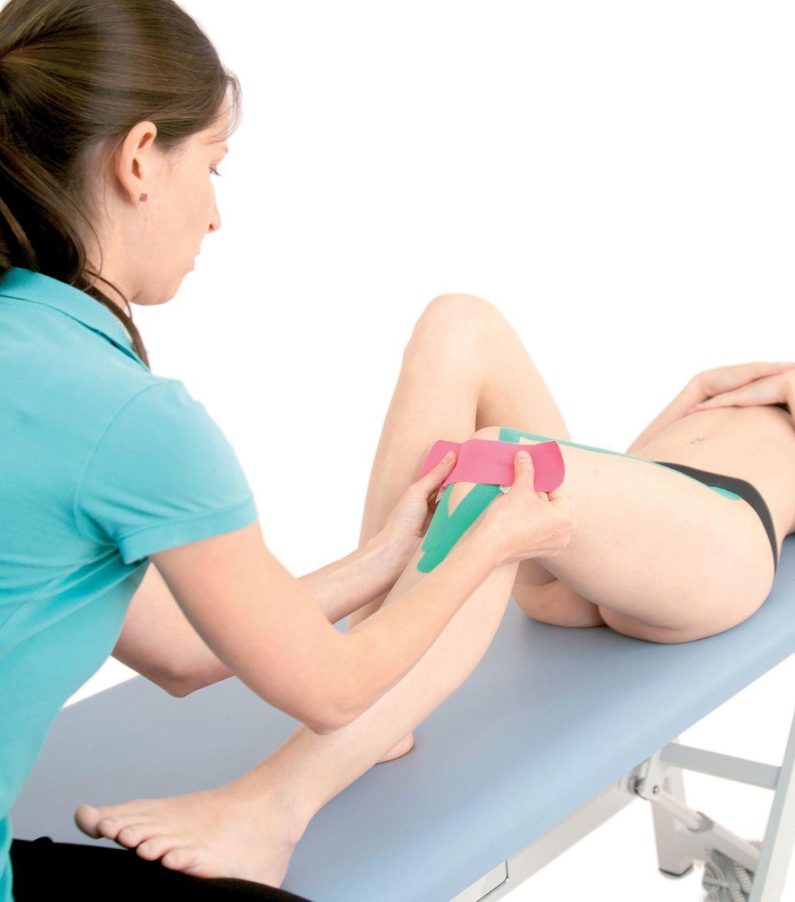 Tejpování úponů stehenního svalu 5
