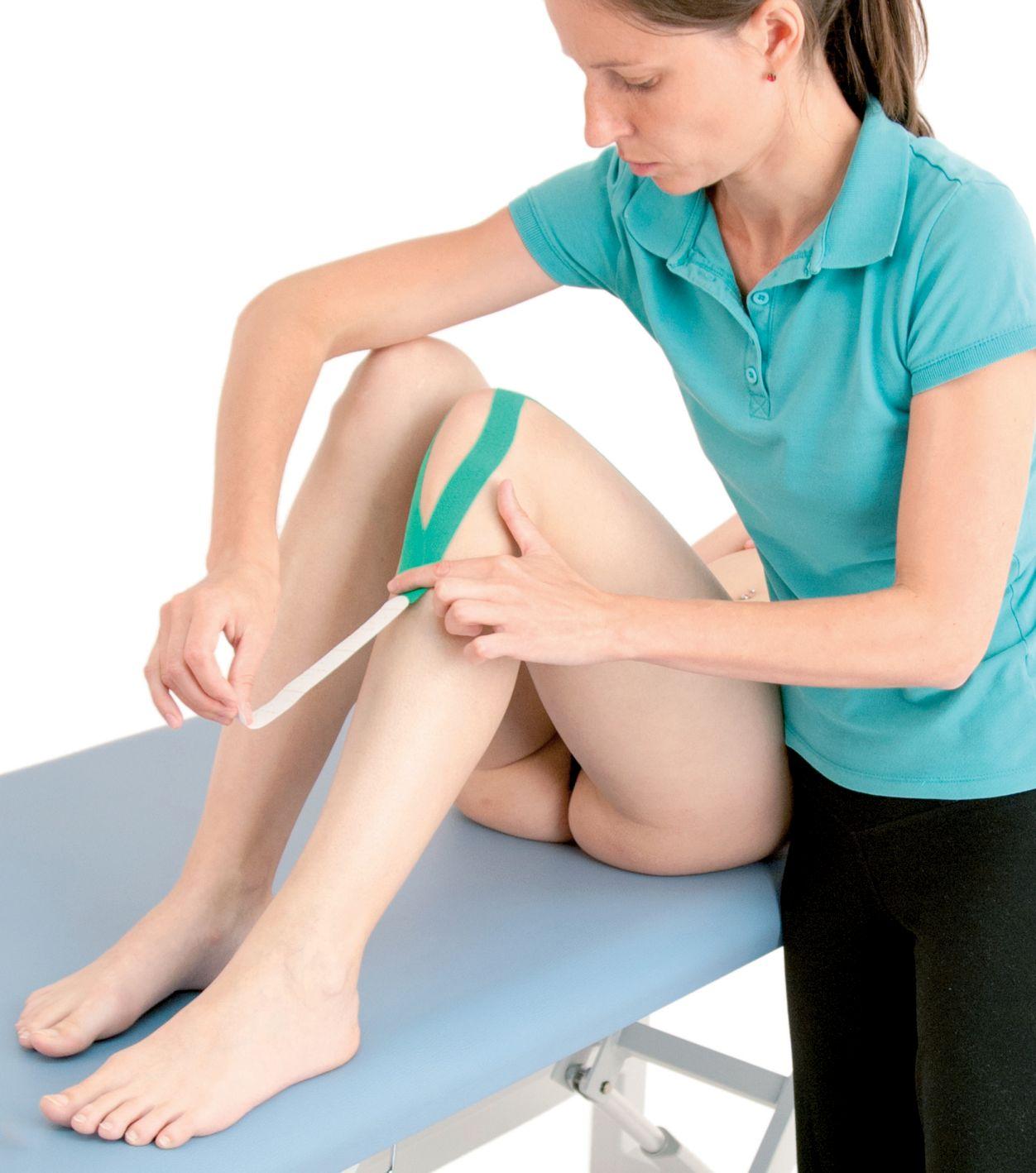 Tejpování úponů stehenního svalu 4