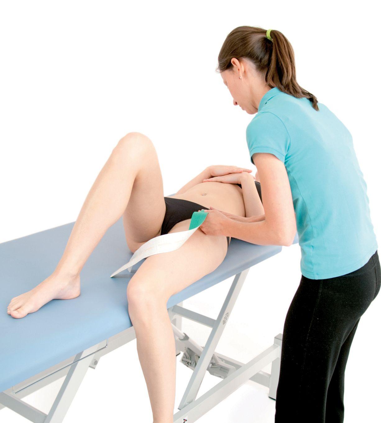 Tejpování úponů stehenního svalu 3