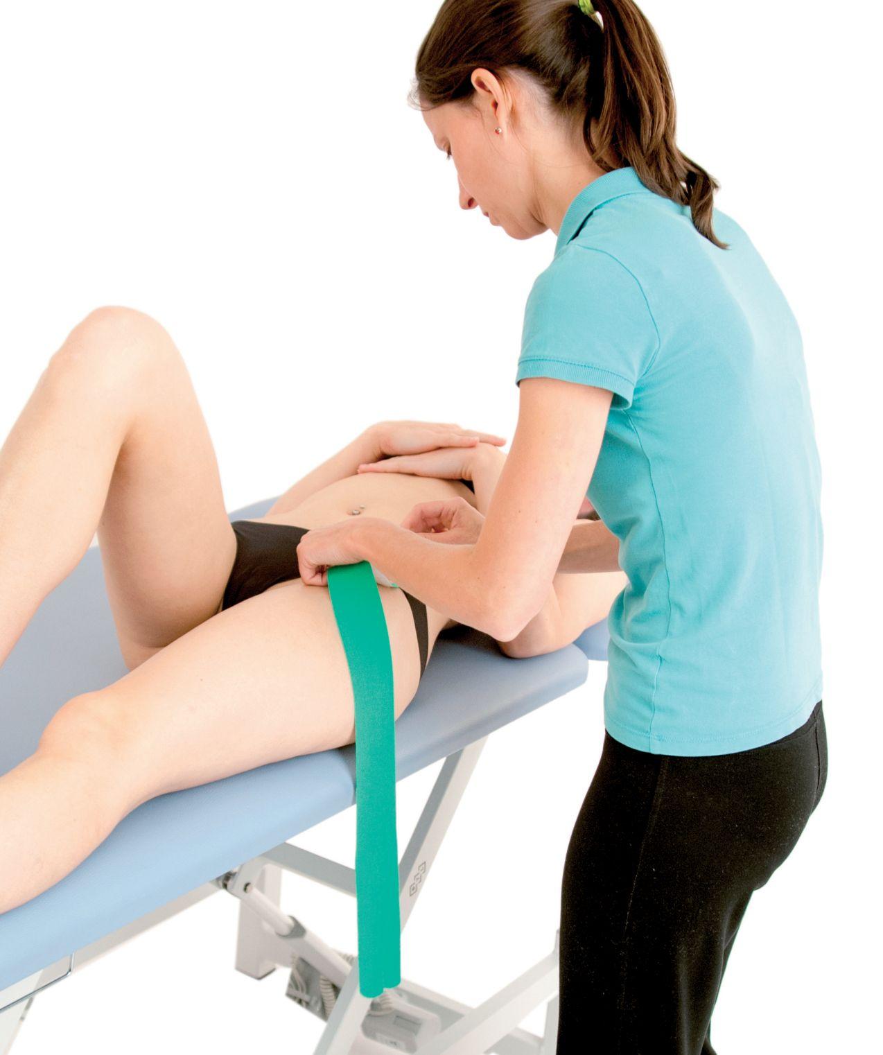 Tejpování úponů stehenního svalu 2