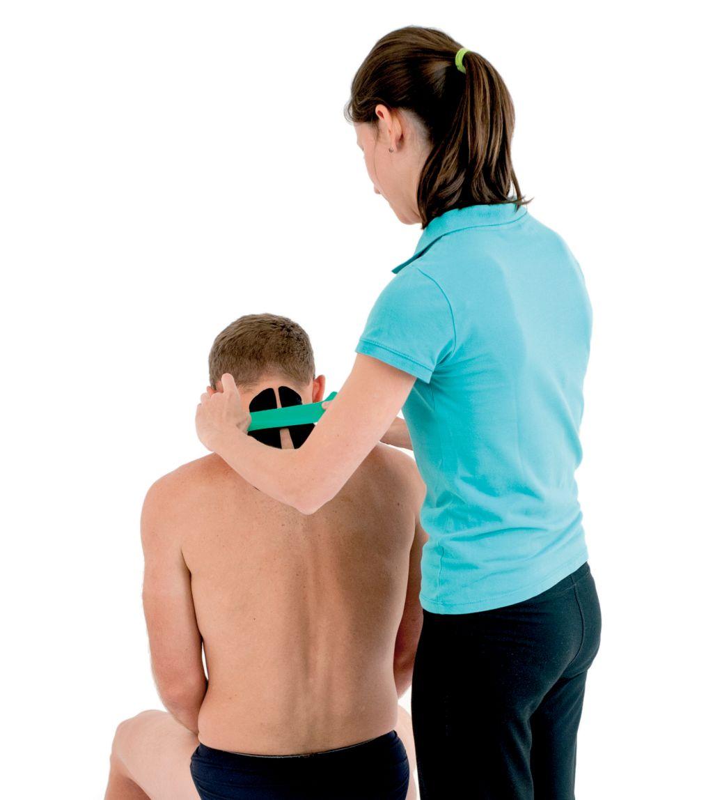 Tejpování krku a ramen