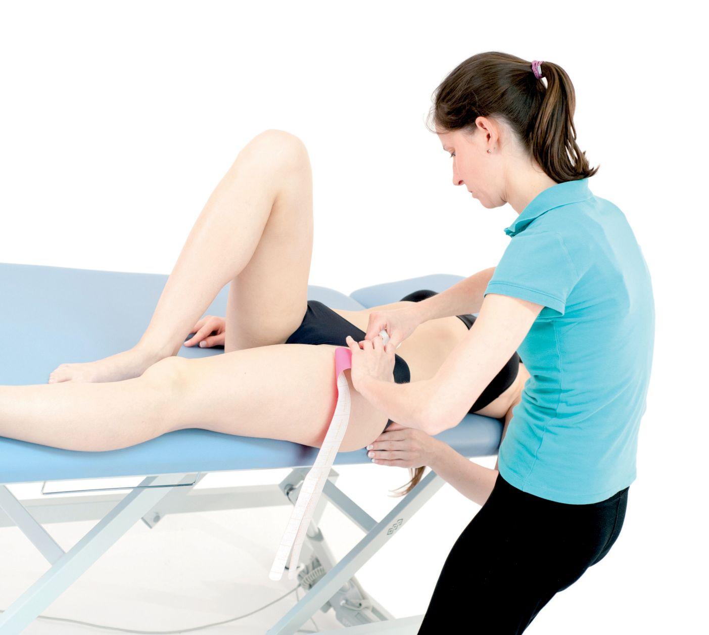 Tejpvání přímého svalu stehenního 3