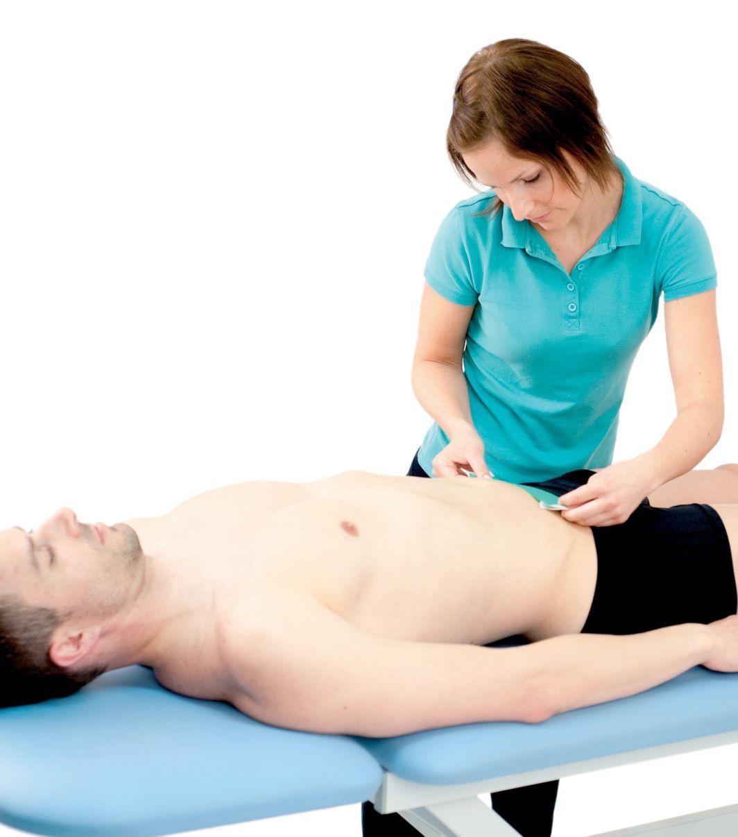 Tejpování příčného svalu 1