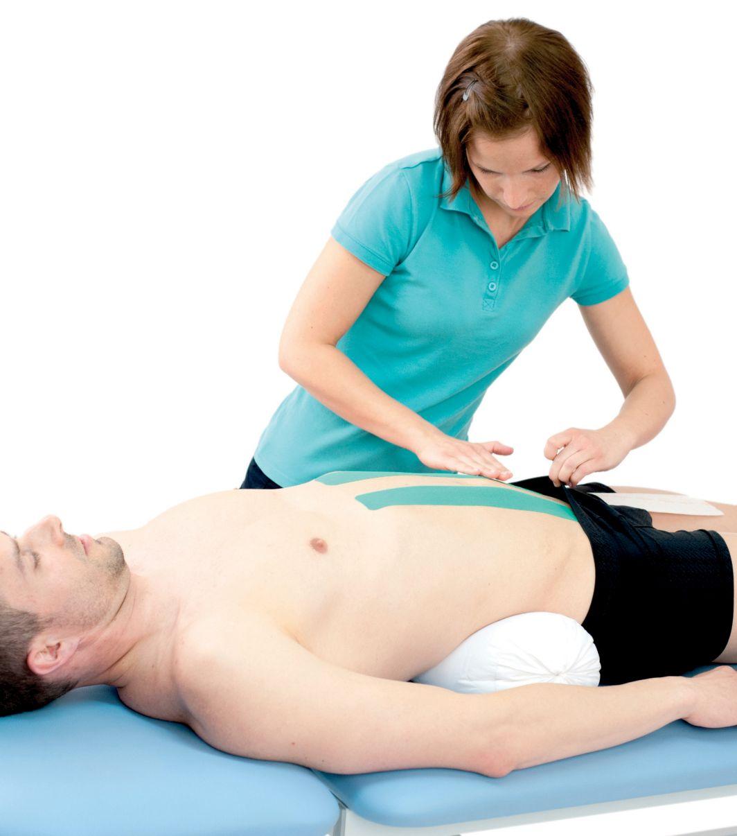Tejpování přímého svalu