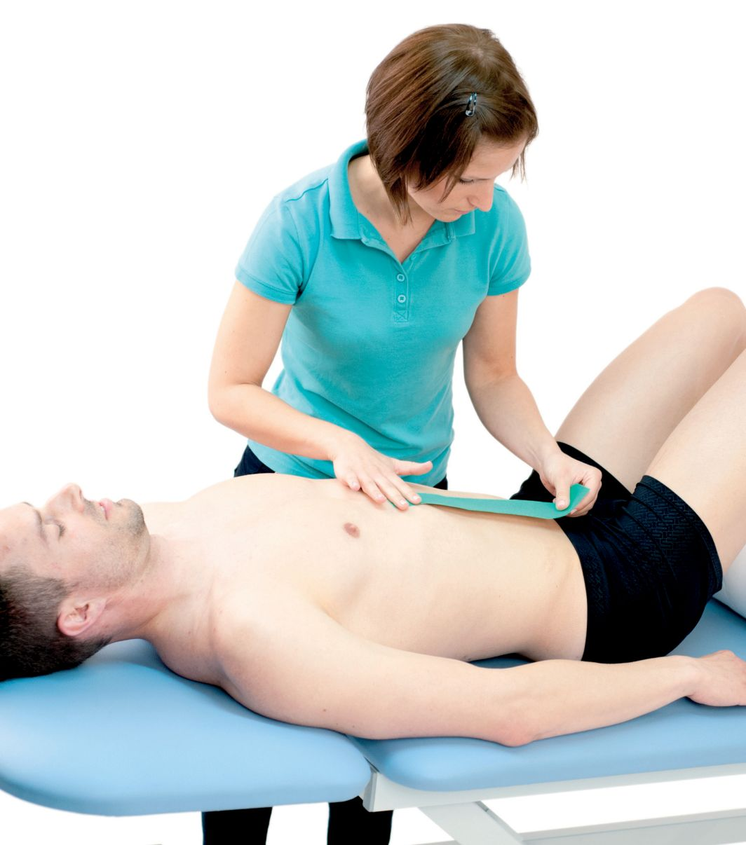 Tejpování přímého svalu 3