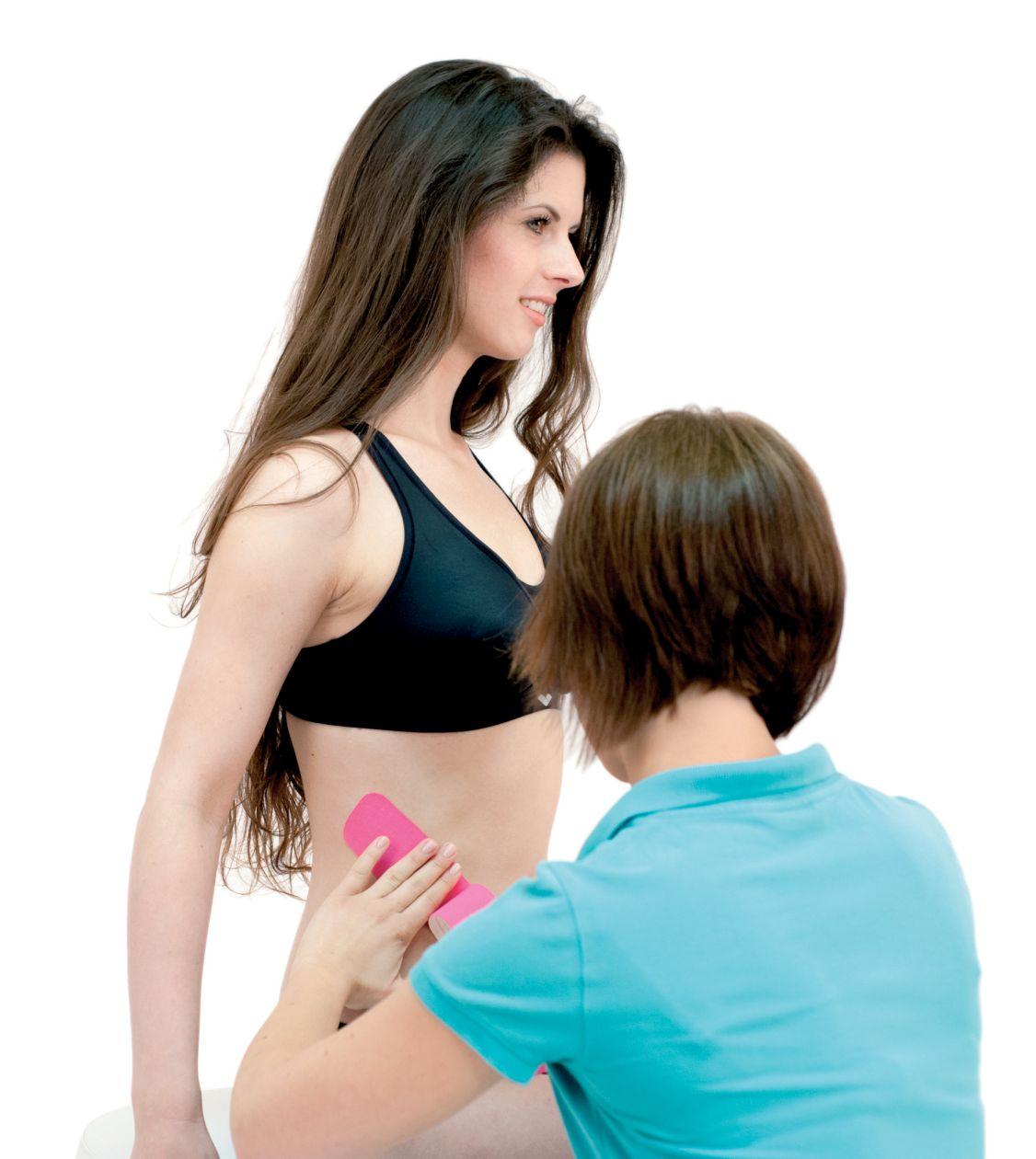 Tejpování zevního šikmého svalu 1