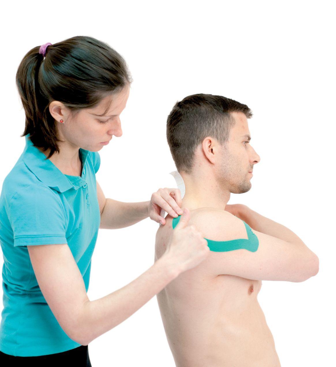 Tejpování ramene – deltového svalu 2