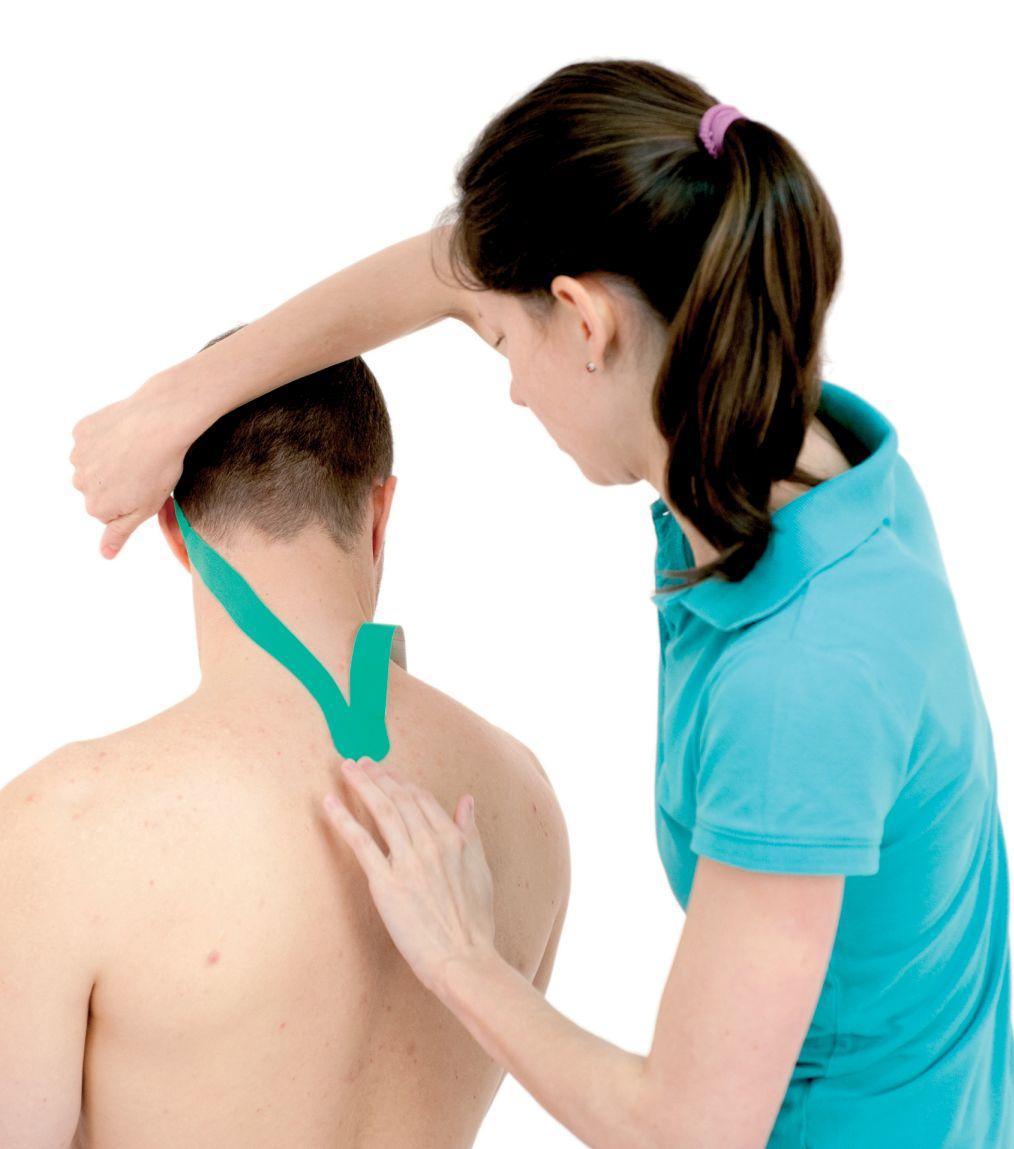Tejpování krku – krční páteře 1