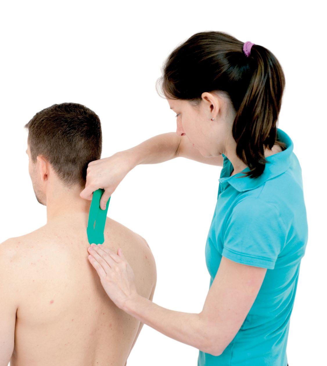 Tejpování krku – krční páteře